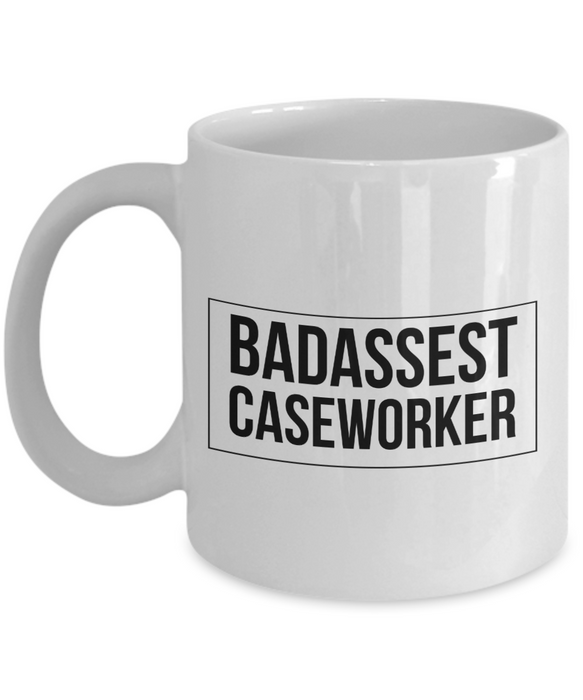 Badassest Caseworker, 11oz Coffee Mug  Dad Mom Inspired Gift - Ribbon Canyon