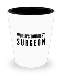 Friend Leaving Novelty Short Glass for Surgeon