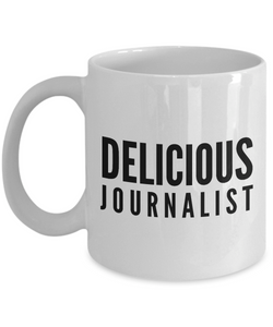 Delicious Journalist - Birthday Retirement or Thank you Gift Idea -   11oz Coffee Mug - Ribbon Canyon