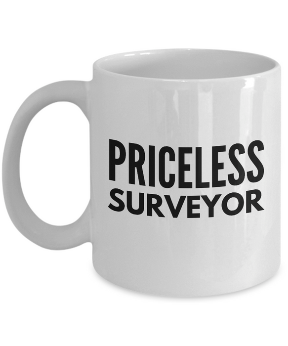 Priceless Surveyor - Birthday Retirement or Thank you Gift Idea -   11oz Coffee Mug - Ribbon Canyon