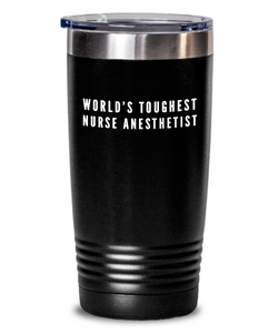 Nurse Anesthetist - Novelty Gift White Print 20oz. Stainless Tumblers - Ribbon Canyon