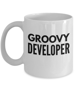 Groovy Developer - Birthday Retirement or Thank you Gift Idea -   11oz Coffee Mug - Ribbon Canyon