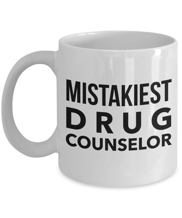 Mistakiest Drug Counselor Gag Gift for Coworker Boss Retirement or Birthday - Ribbon Canyon