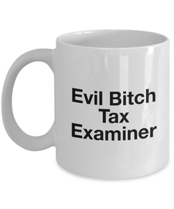 Evil Bitch Tax Examiner, 11Oz Coffee Mug Best Inspirational Gifts and Sarcasm Perfect Birthday Gifts for Men or Women / Birthday / Christmas Present - Ribbon Canyon