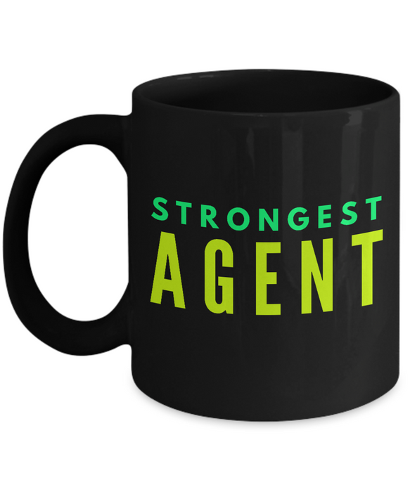 Strongest Agent -  Coworker Friend Retirement Birthday or Graduate Gift -   11oz Coffee Mug - Ribbon Canyon