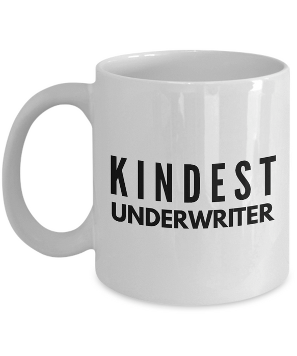 Kindest Underwriter - Birthday Retirement or Thank you Gift Idea -   11oz Coffee Mug - Ribbon Canyon