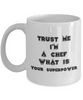 Trust Me I'm a Chef What Is Your Superpower, 11Oz Coffee Mug Unique Gift Idea for Him, Her, Mom, Dad - Perfect Birthday Gifts for Men or Women / Birthday / Christmas Present - Ribbon Canyon