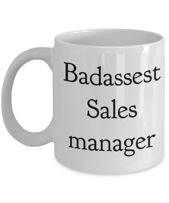 Badassest Sales Manager Gag Gift for Coworker Boss Retirement or Birthday - Ribbon Canyon