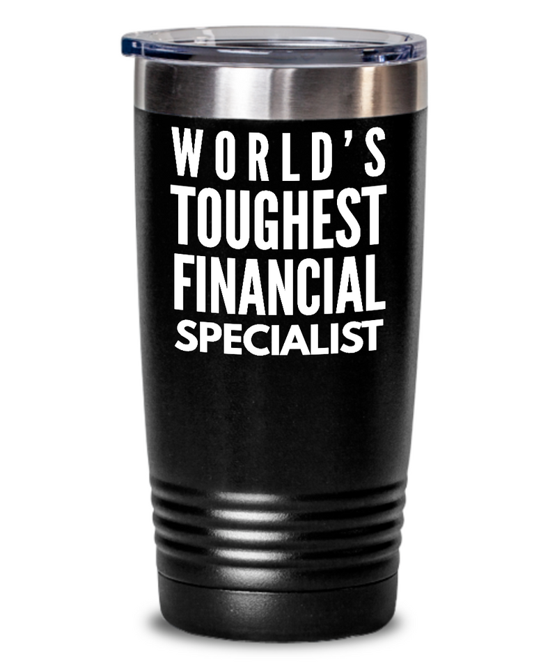 Financial Specialist - Novelty Gift White Print 20oz. Stainless Tumblers - Ribbon Canyon