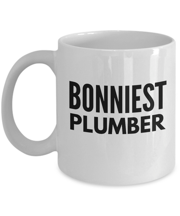 Bonniest Plumber - Birthday Retirement or Thank you Gift Idea -   11oz Coffee Mug - Ribbon Canyon
