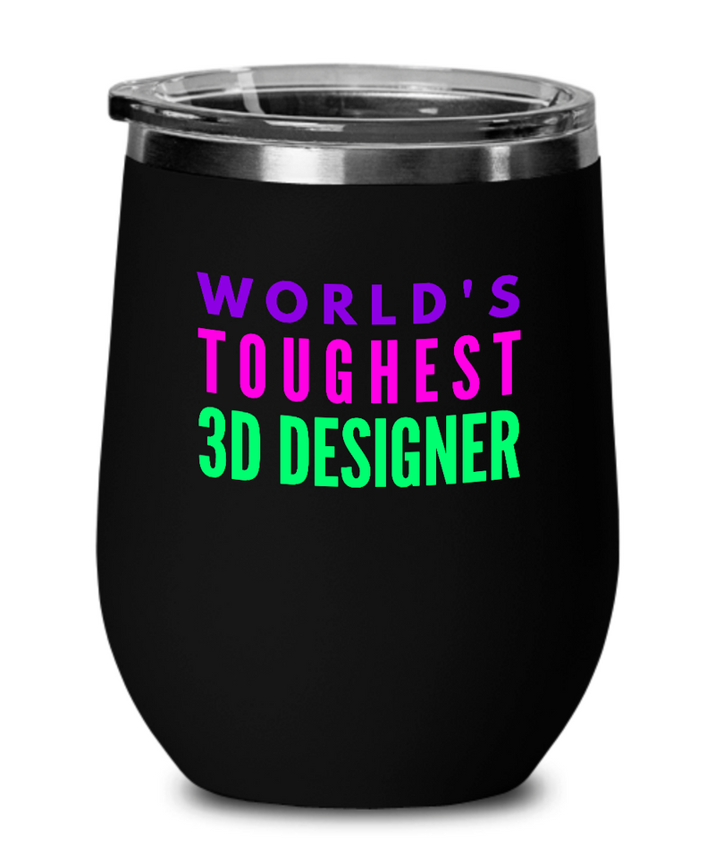 World's Toughest 3D Designer Insulated 12oz Stemless Wine Glass - Ribbon Canyon