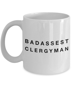 Badassest Clergyman Gag Gift for Coworker Boss Retirement or Birthday - Ribbon Canyon