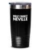 #GB Tumbler White NAME 3695 World's Toughest NEVILLE