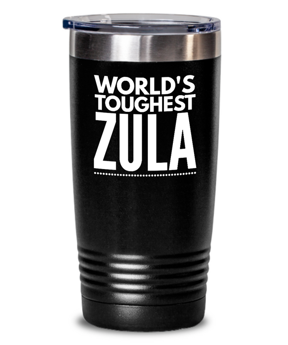 #GB Tumbler White NAME 5161 World's Toughest ZULA