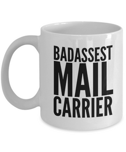 Badassest Mail Carrier Gag Gift for Coworker Boss Retirement or Birthday - Ribbon Canyon