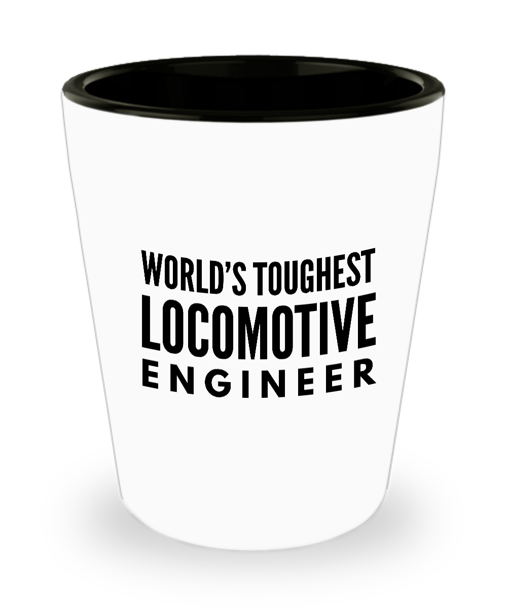 Friend Leaving Novelty Short Glass for Locomotive Engineer