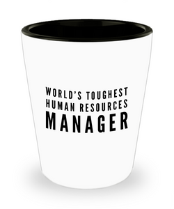 Friend Leaving Novelty Short Glass for Human Resources Manager