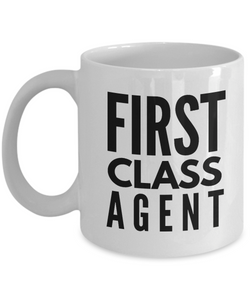 First Class Agent - Birthday Retirement or Thank you Gift Idea -   11oz Coffee Mug - Ribbon Canyon