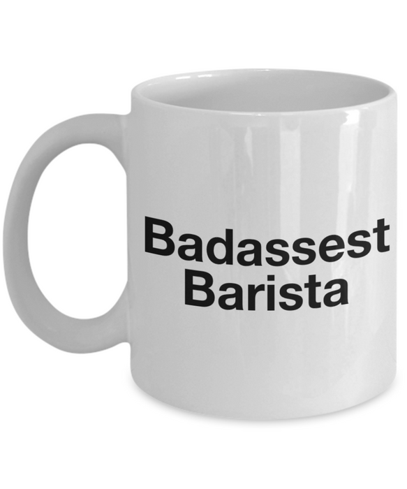 Badassest Barista Gag Gift for Coworker Boss Retirement or Birthday - Ribbon Canyon