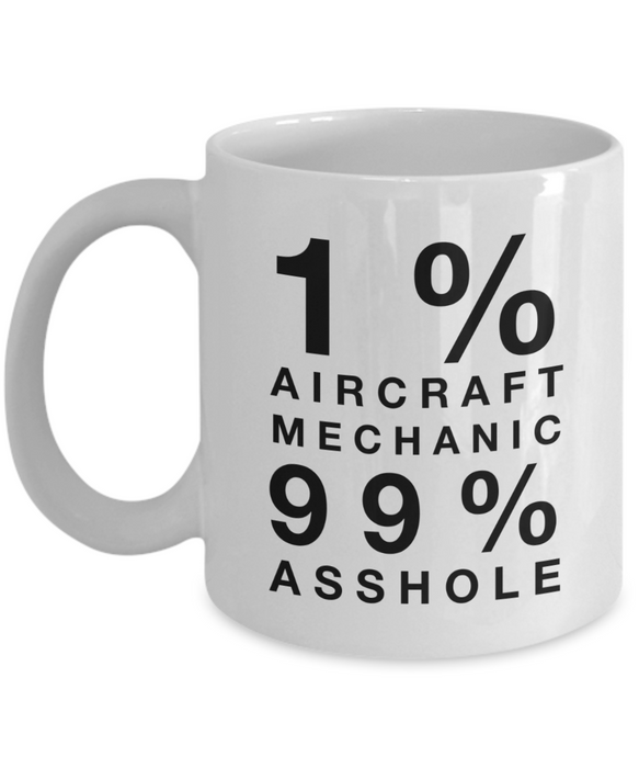 1% Aircraft Mechanic 99% Asshole Gag Gift for Coworker Boss Retirement or Birthday - Ribbon Canyon
