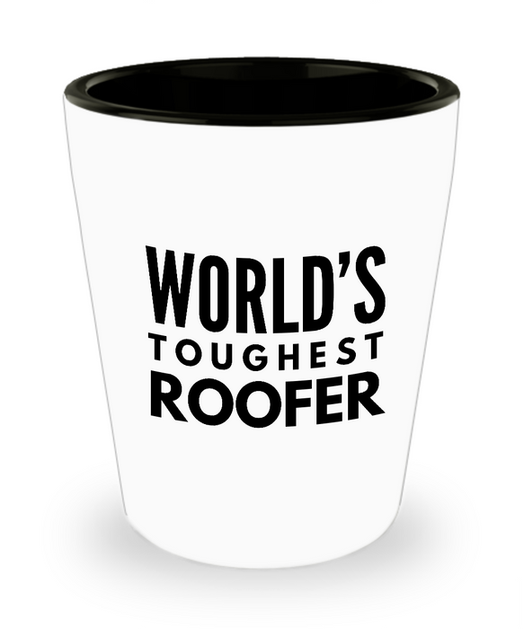 Friend Leaving Novelty Short Glass for Roofer