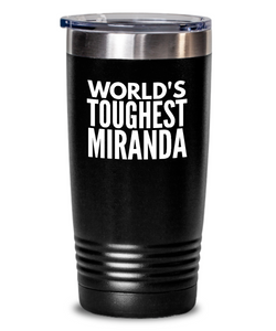 #GB Tumbler White NAME 3552 World's Toughest MIRANDA