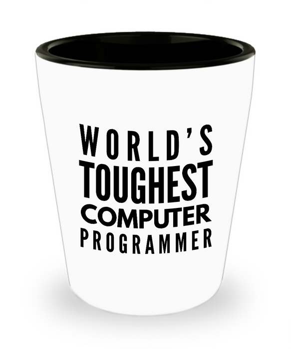 Friend Leaving Novelty Short Glass for Computer Programmer