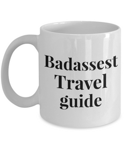 Badassest Travel Guide Gag Gift for Coworker Boss Retirement or Birthday - Ribbon Canyon