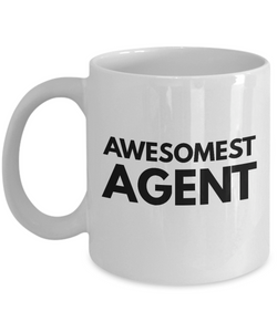 Awesomest Agent - Birthday Retirement or Thank you Gift Idea -   11oz Coffee Mug - Ribbon Canyon