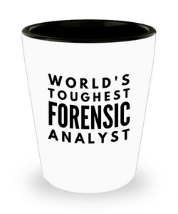 Friend Leaving Novelty Short Glass for Forensic Analyst