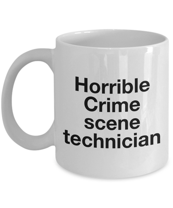 Horrible Crime Scene Technician Gag Gift for Coworker Boss Retirement or Birthday - Ribbon Canyon