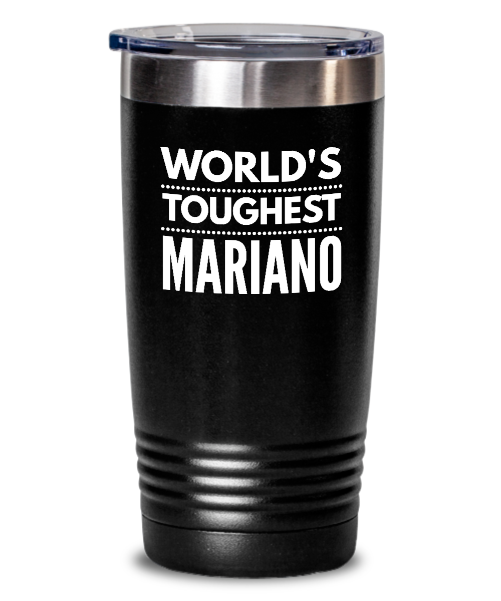 #GB Tumbler White NAME 3286 World's Toughest MARIANO