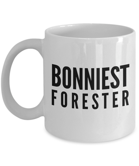 Bonniest Forester - Birthday Retirement or Thank you Gift Idea -   11oz Coffee Mug - Ribbon Canyon