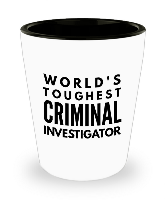 Friend Leaving Novelty Short Glass for Criminal Investigator