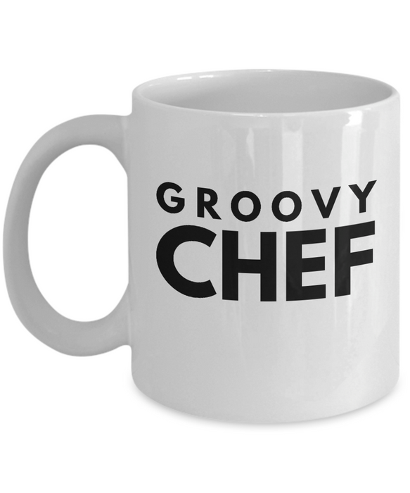 Groovy Chef - Birthday Retirement or Thank you Gift Idea -   11oz Coffee Mug - Ribbon Canyon