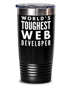 Web Developer - Novelty Gift White Print 20oz. Stainless Tumblers - Ribbon Canyon