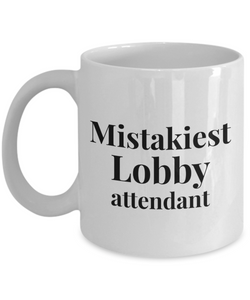 Mistakiest Lobby Attendant Gag Gift for Coworker Boss Retirement or Birthday - Ribbon Canyon