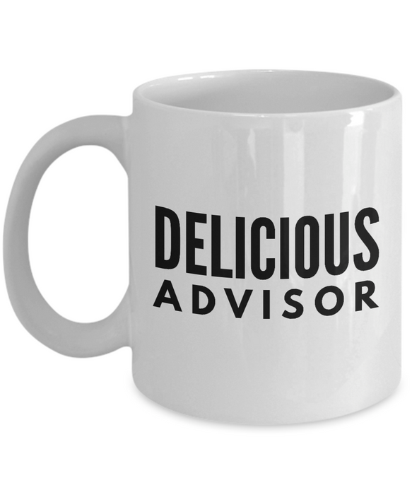 Delicious Advisor - Birthday Retirement or Thank you Gift Idea -   11oz Coffee Mug - Ribbon Canyon