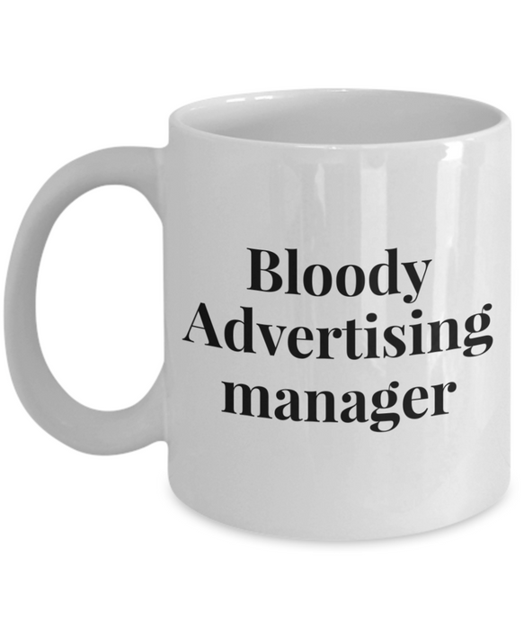 Bloody Advertising Manager Gag Gift for Coworker Boss Retirement or Birthday - Ribbon Canyon