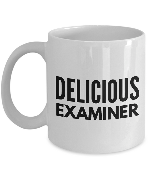 Delicious Examiner - Birthday Retirement or Thank you Gift Idea -   11oz Coffee Mug - Ribbon Canyon