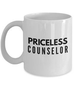 Priceless Counselor - Birthday Retirement or Thank you Gift Idea -   11oz Coffee Mug - Ribbon Canyon