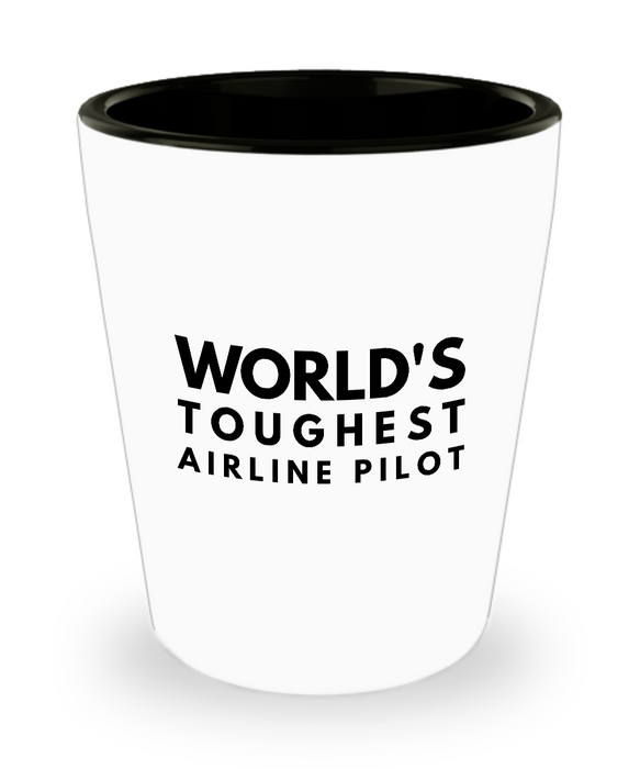 Friend Leaving Novelty Short Glass for Airline Pilot