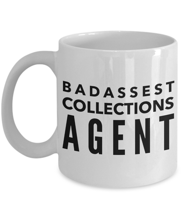 Badassest Collections Agent, 11oz Coffee Mug Gag Gift for Coworker Boss Retirement or Birthday - Ribbon Canyon