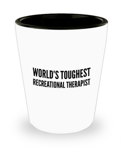 Friend Leaving Novelty Short Glass for Recreational Therapist