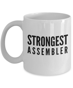Strongest Assembler - Birthday Retirement or Thank you Gift Idea -   11oz Coffee Mug - Ribbon Canyon