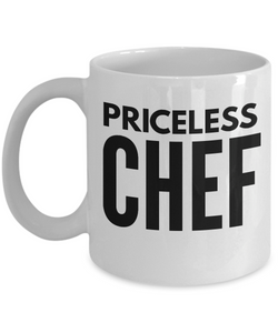 Priceless Chef - Birthday Retirement or Thank you Gift Idea -   11oz Coffee Mug - Ribbon Canyon
