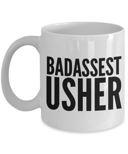 Badassest Usher Gag Gift for Coworker Boss Retirement or Birthday - Ribbon Canyon