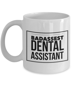 Badassest Dental Assistant Gag Gift for Coworker Boss Retirement or Birthday - Ribbon Canyon