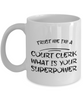 Trust Me I'm a Court Clerk What Is Your Superpower, 11Oz Coffee Mug for Dad, Grandpa, Husband From Son, Daughter, Wife for Coffee & Tea Lovers - Ribbon Canyon
