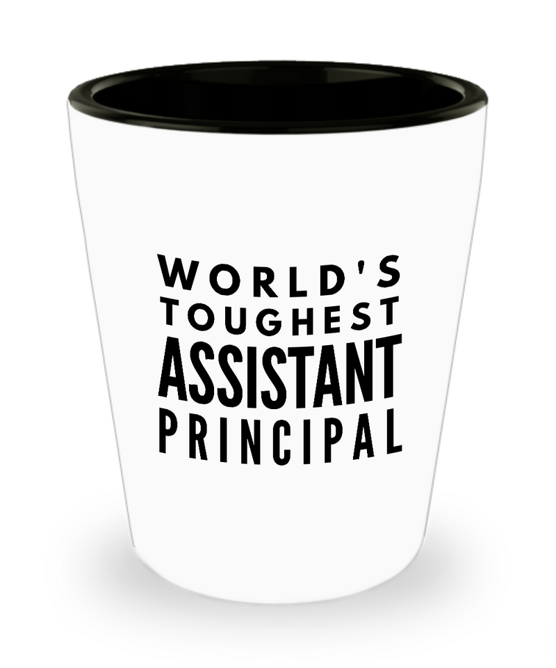 Friend Leaving Novelty Short Glass for Assistant Principal
